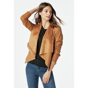 NWT Zip Up Drape Jacket
